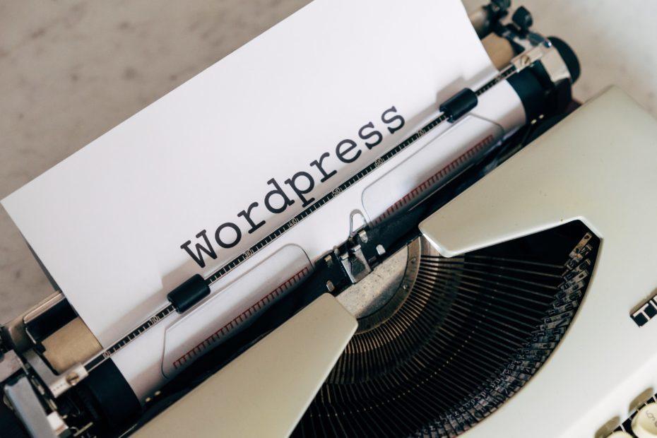 WordPress written on paper on typewriter